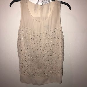 Ann Taylor sheer top with sequins